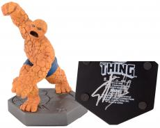 Stan Lee Autographed The Thing Mini Statue with Silver Ink - Stan Lee Hologram