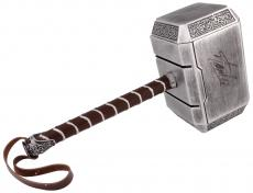 Stan Lee Autographed Thor Replica Hammer with Black Ink - Stan Lee Hologram