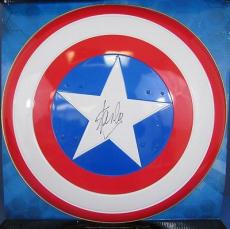 Stan Lee Autographed/Signed Captain America Full Size Metal Shield LEE HOLO 560