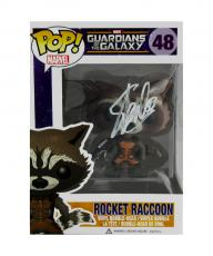Stan Lee Signed Funko Pop! Guardians of the Galaxy Rocket Raccoon Bobblehead Toy