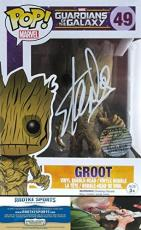Stan Lee Autographed/Signed Funko Pop! Marvel Series Guardians of the Galaxy Groot #49 Action Figure