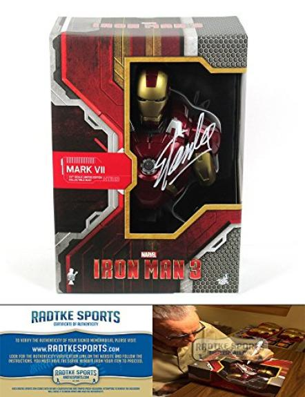 Stan Lee Autographed/Signed Ironman 3 Mark VII Bust Sideshow Collectible Marvel