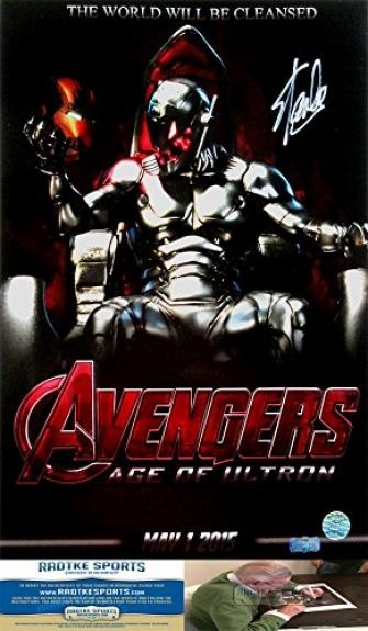 Stan Lee Autographed/Signed Marvel Avengers Age of Ultron Iconic 16×20 Movie Poster Photo