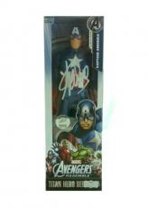 Stan Lee Autographed/Signed Marvel Avengers Assemble Captain America Action Figure Box