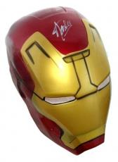 Stan Lee Autographed/Signed Marvel Iron Man Plastic Costume Prop Mask