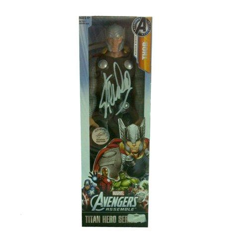 Stan Lee Autographed/Signed Marvel Avengers Thor Classic Series Action Figure Box