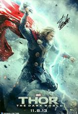 Stan Lee Autographed/Signed Marvel Avengers Thor The Dark World 13x19 Movie P...