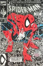 Stan Lee Signed Marvel Spider-Man The Legend of the Arachknight - Torment Part 1 of 5 Silver Cover Comic Book - Todd McFarlane