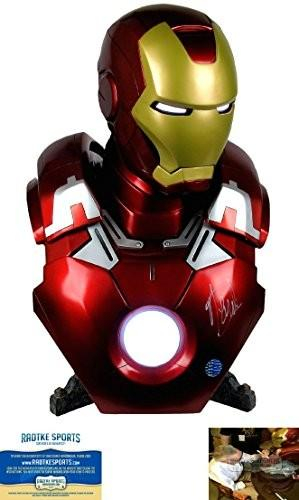Stan Lee Autographed/Signed Sideshow Collectibles Marvel Iron Man Mark VII Life-Size Bust