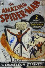 STAN LEE AUTOGRAPHED/SIGNED SPIDER-MAN 16X20 PHOTO 15883 (CHAMELEON) w/JSA