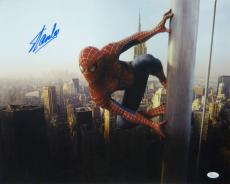 STAN LEE AUTOGRAPHED/SIGNED SPIDERMAN ON POLE 16X20 w/JSA W COA