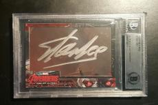 Stan Lee Avengers Iron Man UD Upper Deck Foil BAS Beckett Authentic Signed AUTO
