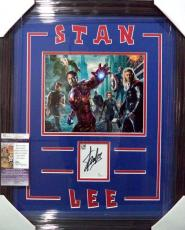 Stan Lee Avengers Signed Autographed Double Matted & Framed Jsa Coa Rare C