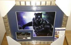 Stan Lee Black Panther Signed Autographed 13x16 Matted & Framed Rare Jsa Coa D