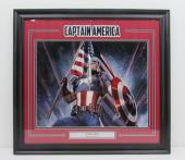 Stan Lee Captain America Autographed/Signed 16x20 Photo Framed HOLO 131481