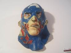 Stan Lee Captain America Hand Signed Autographed Zombie Latex Mask Jsa Coa Rare
