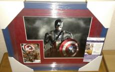 Stan Lee Captain America Signed Autographed 13x16 Matted Framed Rare Jsa Coa A