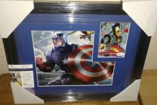 Stan Lee Captain America Signed Autographed 13x16 Matted Framed Rare Jsa Coa B