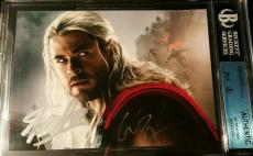 Stan Lee Chris Hemsworth Thor Avengers Age of Ultron AUTO Signed JSA BGS