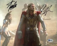 Stan Lee & Chris Hemsworth Thor Signed 8X10 Photo BAS #B51691