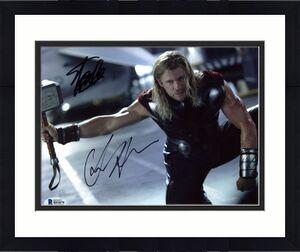 Stan Lee & Chris Hemsworth Thor Signed 8X10 Photo BAS #B51879