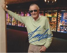 STAN LEE - CO-CREATED SPIDER MAN, THE HULK, IRON MAN, THOR, and the X-MAN Signed 10x8 Color