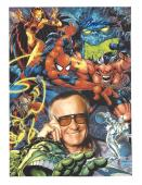 STAN LEE - CO-CREATED SPIDER MAN, THE HULK, IRON MAN, THOR, and the X-MAN Signed 8.5x11 Color