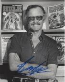 STAN LEE - CO-CREATED SPIDER MAN, THE HULK, IRON MAN, THOR, and the X-MAN Signed 8x10 B/W Photo