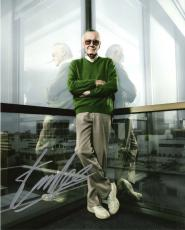 STAN LEE - CO-CREATED SPIDER MAN, THE HULK, IRON MAN, THOR, and the X-MAN Signed 8x10 Color Photo