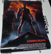 Stan Lee & Colin Farrell Mark Steven Johnson Signed Daredevil Poster PSA/DNA COA
