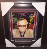 Stan Lee Creator Of Marvel Comics Spiderman Ironman Avengers Framed 8x10 Photo