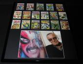 Stan Lee Framed 16x20 Photo & Vintage 1984 Marvel Classic Covers Card Set