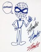 Stan Lee Hand Drawn Signed SPIDERMAN Sketch PSA/DNA Full Letter Authentic X02437
