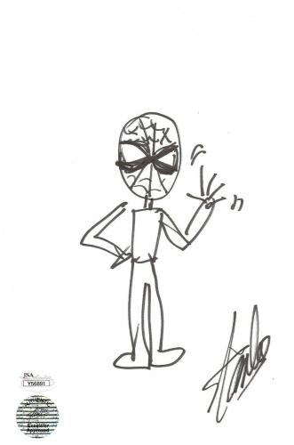 Stan Lee Hand Drawn Spiderman Sketch Jsa Full Letter Authentication
