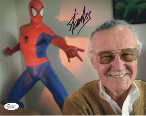 STAN LEE HAND SIGNED 8x10 COLOR PHOTO      RARE    MARVEL COMICS LEGEND     JSA