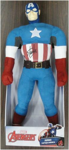 Stan Lee Hand Signed Auto Avengers Plush 12x30 Inch Captain America JSA V40051
