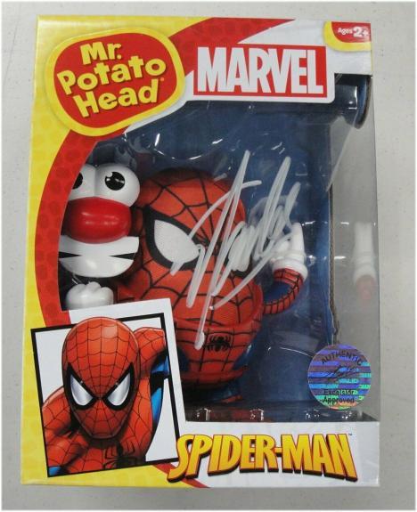 Stan Lee Hand Signed Auto Mr. Potato Head Spiderman Toy New in Box JSA V40039