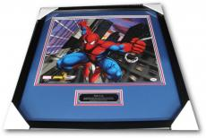 Stan Lee Hand Signed Autograph 16x20 Photo Amazing Spiderman Fist Framed PSA/DNA