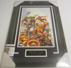 Stan Lee Hand Signed Autographed Avengers Framed Photo Jsa Certified Coa