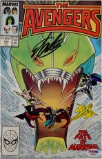 Stan Lee Hand Signed Autographed Comic Book Avengers #293 PSA AA66563
