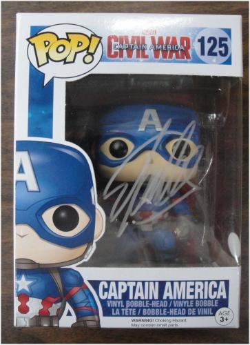 Stan Lee Hand Signed Autographed Pop! Funko Captain America Civil War JSA V40030