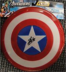 Stan Lee Hand Signed Captain America Flying Shield 7x8 Green PSA/DNA 5a03295
