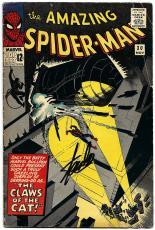 Stan Lee Hand Signed Spiderman #30 Comic Book Molten Man! Psa/dna Loa V07830