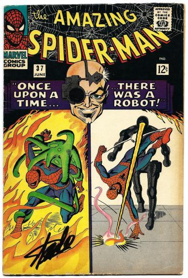 Stan Lee Hand Signed Spiderman #37 Comic Book Psa/dna Graded Gem Mint 10! V07893