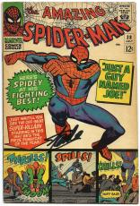 Stan Lee Hand Signed Spiderman #38 Comic Book Psa/dna Graded Gem Mint 10! V07898