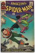 Stan Lee Hand Signed Spiderman #39 Comic Book Psa/dna Graded Gem Mint 10! V07900