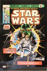 "STAN LEE & HOWARD CHAYKIN Signed ""Star Wars"" Comic Book 16X20 Photo PSA/DNA"