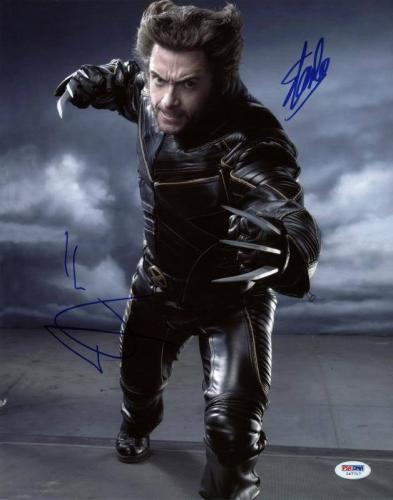 Stan Lee & Hugh Jackman Wolverine Signed 11X14 Photo PSA/DNA #I47717