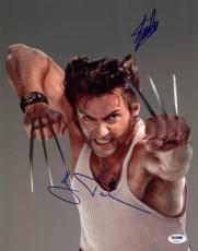Stan Lee & Hugh Jackman Wolverine Signed 11X14 Photo PSA/DNA #U72027