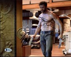 Stan Lee & Hugh Jackman X-Men Wolverine Logan Signed 8X10 Photo BAS #B51681